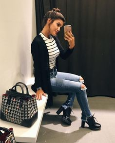 cute spring outfits to wear now 2019 best outfits woman spring 29 Cute Spring Outfits, Cute Outfits, Casual Outfits, Fashion Outfits, Womens Fashion, Look Star, Look Office, Looks Jeans, Chanel Outfit