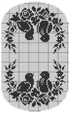 Vintage Filet Crochet Pattern Chair Back Doily Birds [PB080] - $7.99 : Maggie Weldon, Free Crochet Patterns