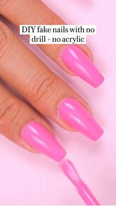 Pink Gel Nails, Gel Nail Polish, Diy Nails, Manicure, Gel Nail Extensions, Led Nail Lamp, Oil For Hair Loss, Nail Forms, Types Of Nails