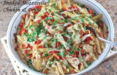 Olive Garden Smoked Mozzarella Chicken and Penne Pasta. Great Valentine's Day at home dinner idea!