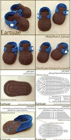 Crochet baby shoes for your newborn Crochet baby shoes, the baby … - Her Crochet - Sandalias para bebé de ganchillo - Crochet Baby Boots, Crochet Baby Sandals, Knit Baby Booties, Booties Crochet, Newborn Crochet, Crochet Slippers, Crochet Hats, Crochet Wrap Pattern, Crochet Patterns