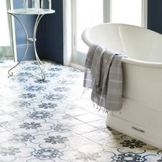 encaustic tiled floor