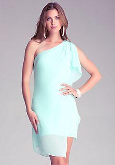 Asymmetric Drape Dress fron bebe Style# 232167 $119.00