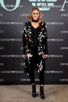 Olivia Palermo attends the Emporio Armani Show on September 17 2017 in London England