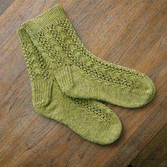 Sprucey Lucy Socks knitted by narangkar with Alpenglow Sylvan Sock Yarn in Wasabi