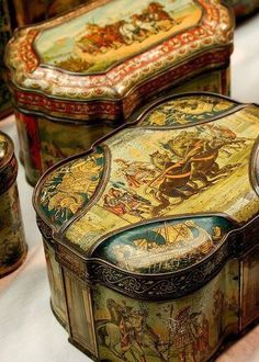Old Biscuit Tins
