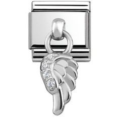 Official Nomination CLASSIC Silvershine Cubic Zirconia Wing Charm from The Jewel Hut. Nomination Charms, Nomination Bracelet, Silver Color, Valentine Day Gifts, Link, Best Gifts, Jewelry Accessories, Charmed, Jewels