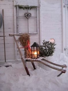 Classic and vintage outdoor christmas decorations ideas 17