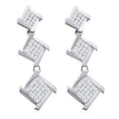 1/3CT-Diamond MICRO-PAVE EARRINGS