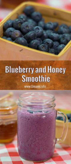 Blueberry and Honey Smoothies are a delicious pick me up. This blueberry smoothie recipe is packed with sweet blueberry and honey flavors that are the perfect compliment to the thick greek yogurt.