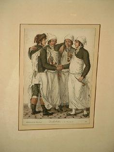 """""""Zuckerbecker in der Feyerstunde"""" Blatt 33 aus der Folge """"Kleidertracht in Hamburg"""" (1801-1806)"""