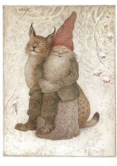 "dahliafyodorovna: "" Artwork by Lennart Helje I Painter, illustrator, born in in Lima. He paints Christmas cards with elves in snowy landscapes. Several paintings are reproduced. Illustration Inspiration, Illustration Art, Cat Illustrations, Happy Winter Solstice, Photo D Art, Christmas Gnome, Magical Creatures, Oeuvre D'art, Cat Art"