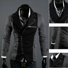 New TOP Design Mens Casual Sexy Slim FIT Blazers Coats Suit Jackets 2 Colors | eBay
