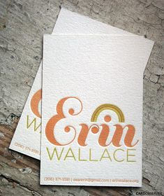 Unique Business Cards: Try letterpress for a business card that's uniquely yours.