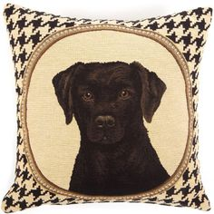 DecRenew: Twos Company 50162 Double Sided Houndstooth Labrador Pillow (Pack of 2) TWO-50162