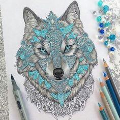 Mandala Wolf by @vvvenla_art