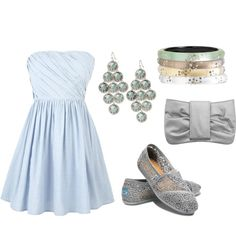 silver and blue, created by megan-michal-edwards on Polyvore