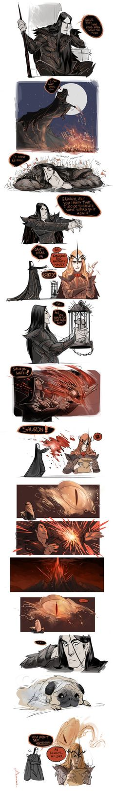 DoS questions: Pugs in Middle-Earth? by Phobs on DeviantArt Sauron is really tired of Melkor's sh*t