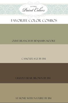 Favorite Paint Colors: Great site to see colors in actual rooms. lots of choices with color names. Olive Branch for exterior Interior Paint Colors, Paint Colors For Home, House Colors, Living Room Paint Colours, Tuscan Paint Colors, Pintura Exterior, Exterior Colors, Exterior Paint, Gray Exterior