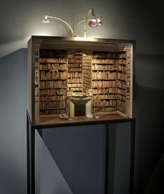 Charles Matton - Enclosures (ongoing project) - Handmade miniature interiors.