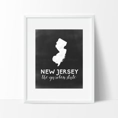 New Jersey Printable by SamanthaLeigh on Etsy