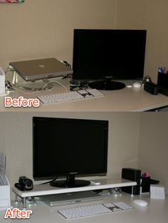 It's easy & it works! I tried it and it now holds up a small tv in my room and my Blu-ray player fits nicely underneath.
