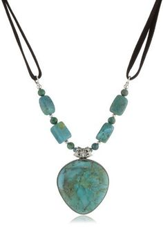 "Barse Sterling Silver ""Manuscript"" Genuine Turquoise Sterling Pendant Necklace Leather Necklace Barse Sterling Silver, http://www.amazon.com/dp/B008OPO748/ref=cm_sw_r_pi_dp_NmAcrb0QR8HMW"