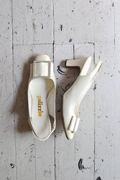 vintage 60s shoes / 1960s heels / Pallizzio heels
