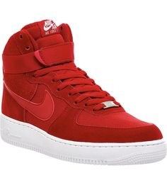 NIKE Air force 1 high-top trainers (Gym red)