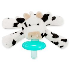 Part plush toy, part pacifier, the amazing WubbaNub Cow Infant Pacifier makes a perfect companion for your little one. Its patented design keeps your baby's pacifier close by and prevents it from getting lost, dropped, or misplaced. Wubbanub Pacifier, Baby Pacifiers, Cow Nursery, Nursery Room, Cow Baby Showers, Baby Cows, Baby Elephants, After Baby, Baby Arrival