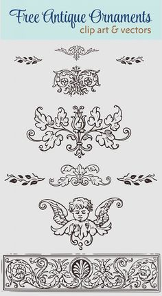 Royalty Free Images - Vintage Decorative Ornaments Clip Art & Vector | Oh So Nifty Vintage Graphics