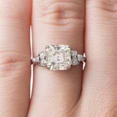 Exceptional Warm Toned Asscher Cut Ring | Woodley Park
