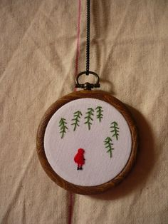 teeny red riding hood embroidery