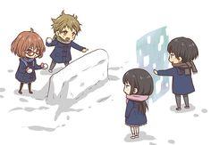 Tags: Rito, Kyoukai no Kanata, Kanbara Akihito, Kuriyama Mirai, Nase Mitsuki, Nase Hiromi