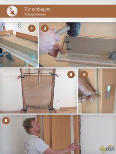 Tür einbauen Schritt für Schritt! Um eine Türzarge einbauen zu können, braucht es kaum mehr als etwas Geschick und diese kleine Anleitung.