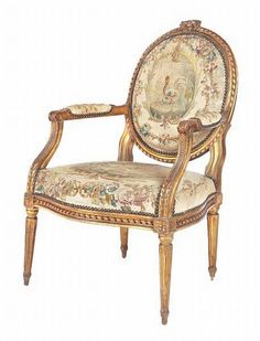 #161 louis xvi fauteuil with round back