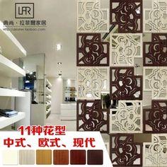 Madera separador de habitaciones de paneles de madera tallada pantalla plegable de madera chino barato en pantalla pantalla plegable paravent en bois separador de habitaciones 39 cm(China (Mainland))