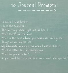 Journal Prompts - This Enchanted Pixie//