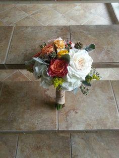 Vintage rustic bridesmaid bouquet, by Eden's Echo
