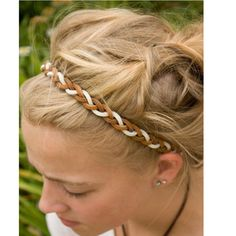 Cheap fashion hair accessories, Buy Quality hair accessories directly from China headbands hair accessories Suppliers: Real leather braided punk elastic headband new fashion cool adult and children elastic headband hair accessories Hippie Headbands, Elastic Headbands, Braided Headbands, Leather Art, Braided Leather, Real Leather, Diy Hair Accessories, Leather Accessories, Headband Hairstyles
