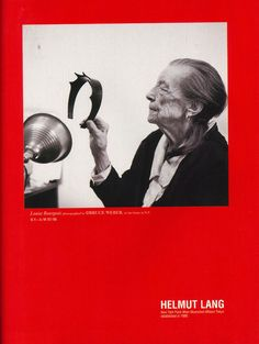 The Face December 1997, Helmut Lang Campaign with Louise Bourgeois photographed by Bruce Weber in her home N.Y.