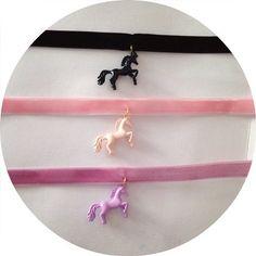Little Unicorn Pony Velvet Choker Necklace