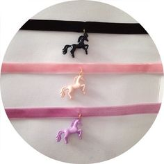 Little Unicorn Pony Velvet Choker Necklace