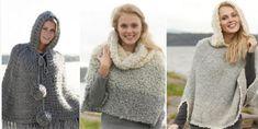 8 patrons gratuits de ponchos à faire au tricot ou au crochet! - Bricolages - Trucs et Bricolages Poncho Crochet, Drops Design, Couture, Athleisure, Turtle Neck, Knitting, Sweaters, Bonnets, Knits