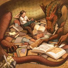 Dragons make excellent reading companions