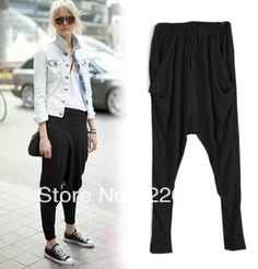 Fashion 2013 summer vintage loose personalized baggies harem pants casual trousers female $22.98
