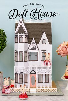 3D Victorian Doll House My Doll House, Up House, Doll Houses, Victorian Dolls, Victorian Dollhouse, Modern Dollhouse, 3d Paper Projects, Paper Crafts, 3d Cuts
