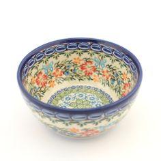 Bowl - Polish pottery - Polská keramika - Krásná ručně zdobená miska. Veškerá naše keramika lze používat denně v myčkách na nádobí a v mikrovlnných i pečících troubách.