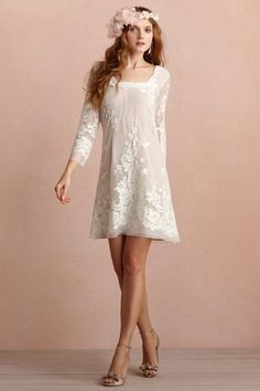 Short Hippie Wedding Dresses Boho chic wedding dress by
