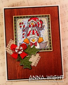 Penguin Stack - Anna Wight by SweetMissDaisy - Cards and Paper Crafts at Splitcoaststampers